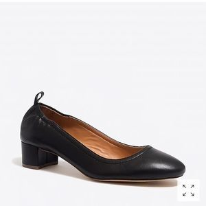 J. Crew Anya leather block heels black size 8